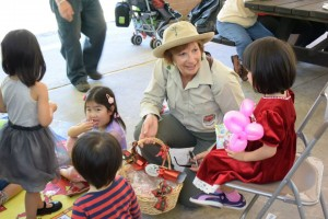 picnic ranger with kids
