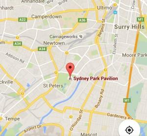 Sydney Pavillion map